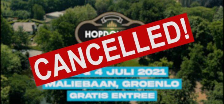 Hopdonder en Reggeafestival gecanceld